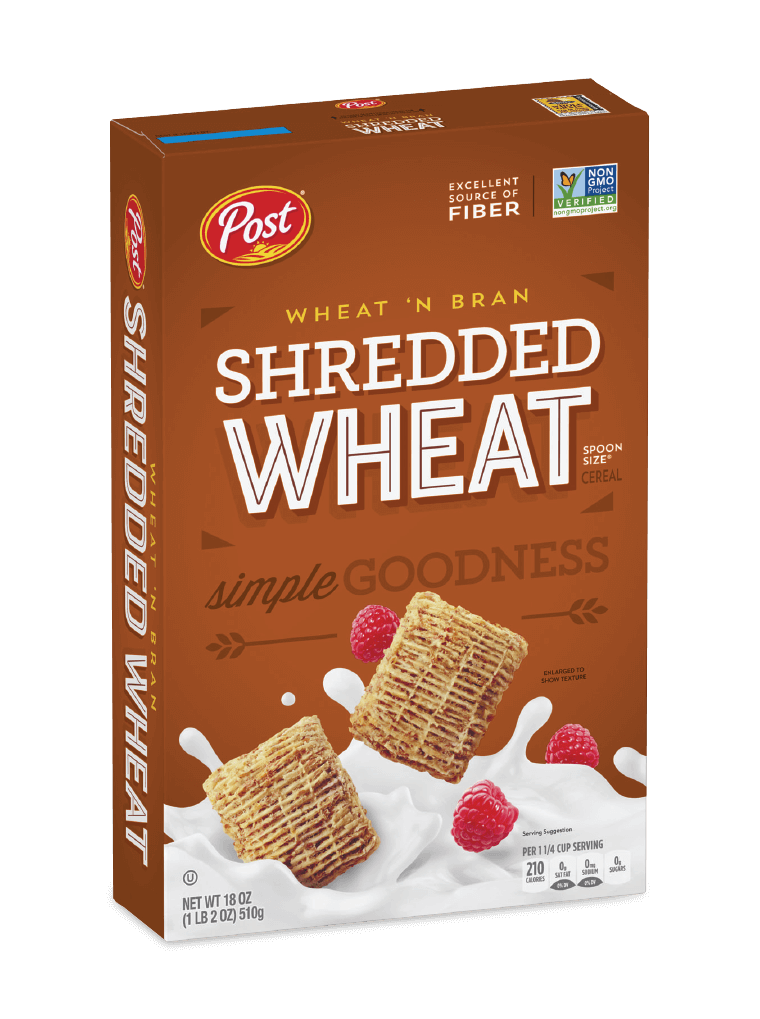 Post Shredded Wheat wheat bran box